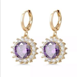 Jewelry - 18k GF amethyst earrings